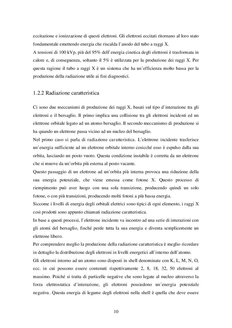 Estratto dalla tesi: Mammografia digitale: confronto tra qualità immagine in relazione alle curve di acquisizione dosimetriche