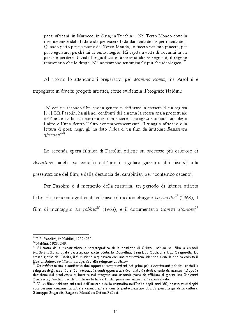 Estratto dalla tesi: Appunti per un'Orestiade africana di Pier Paolo Pasolini