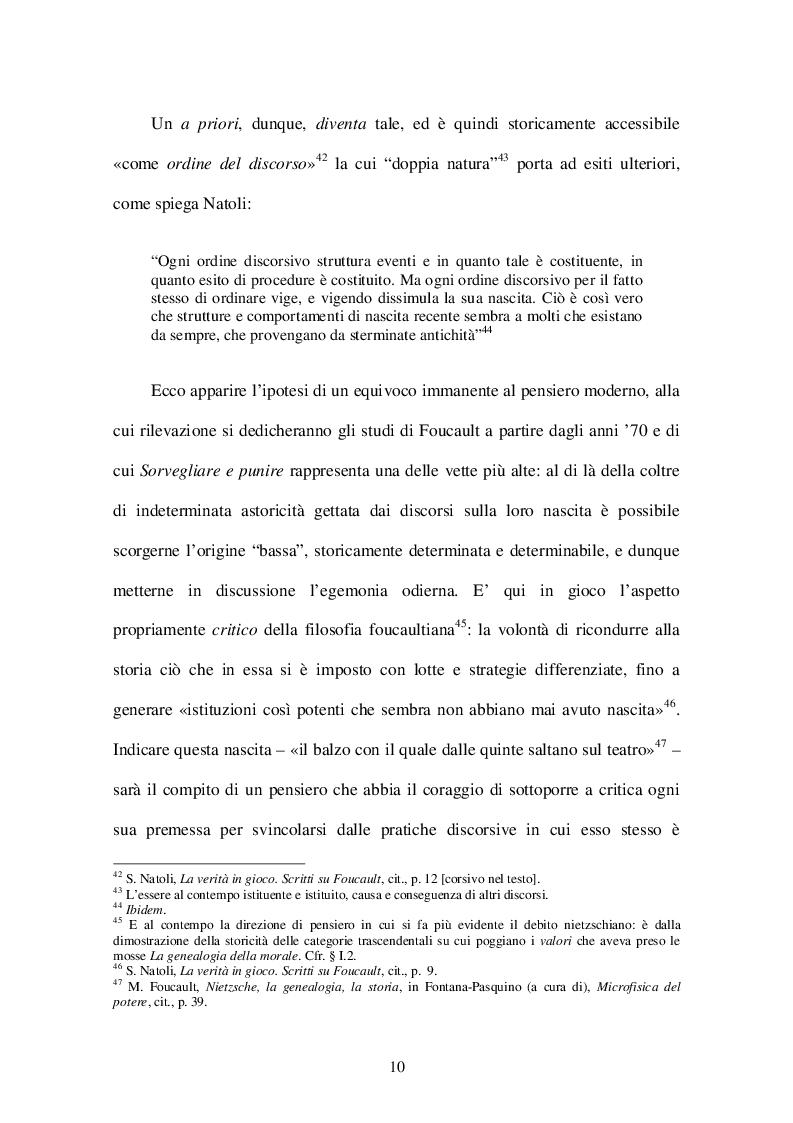 Estratto dalla tesi: Il potere di normalizzazione in Michel Foucault