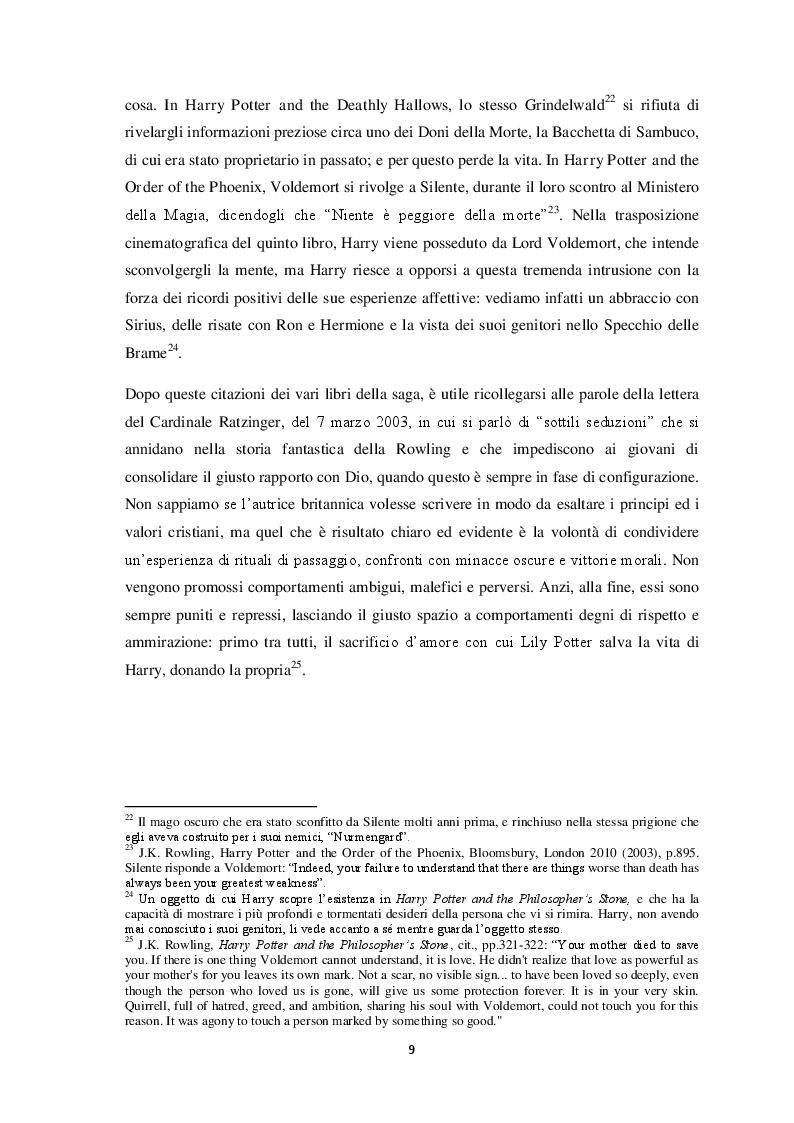 Estratto dalla tesi: La saga di Harry Potter: fabula, trame allegoriche e la rilevanza di The Deathly Hallows