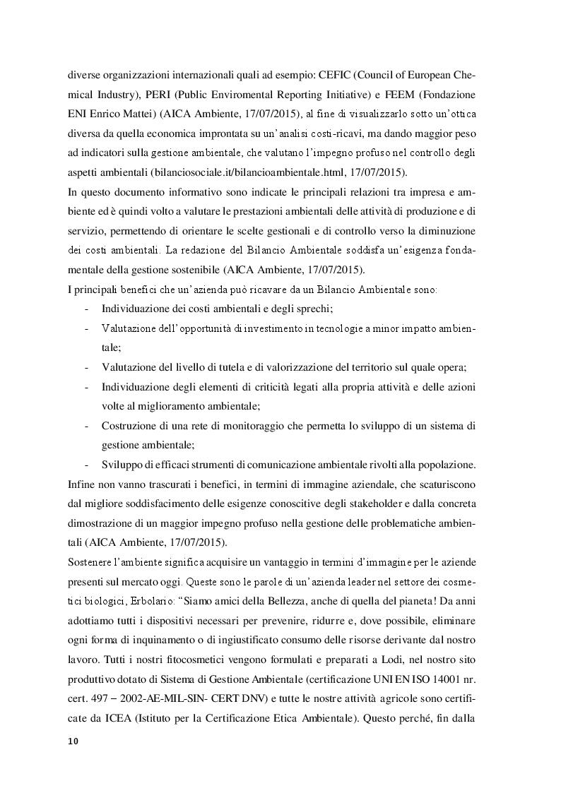 Estratto dalla tesi: Scelta biologica e performance aziendali nel settore cosmetico