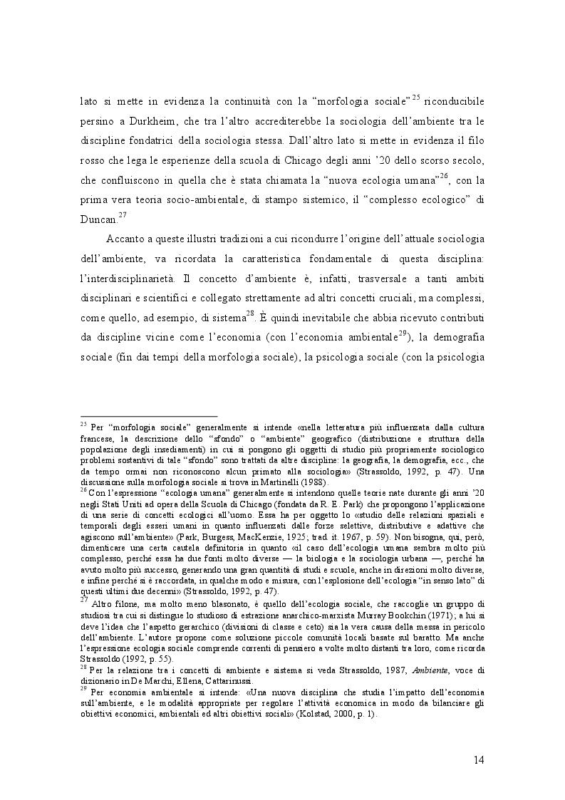 Estratto dalla tesi: Il rapporto tra indicatori soggettivi e strutturali: il caso della qualità dell'ambiente.