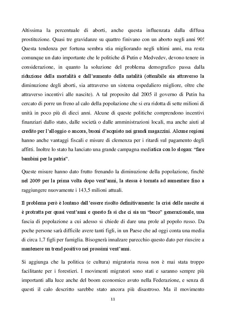 Estratto dalla tesi: Il mercato russo per l'internazionalizzazione delle imprese italiane. La ceramica made in Italy e il caso Altaeco.