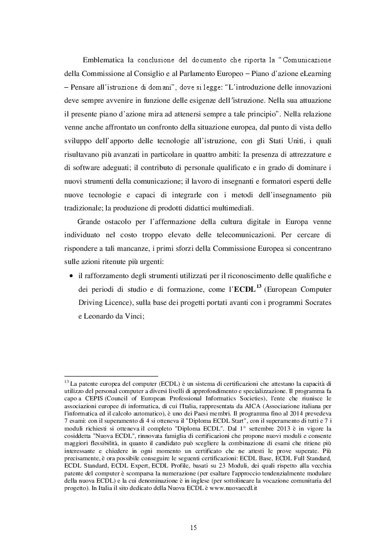 Estratto dalla tesi: La scuola italiana: dalla carta al digitale