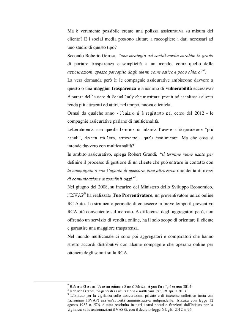Estratto dalla tesi: Le compagnie assicurative tradizionali e i social media. Quale futuro per gli intermediari?