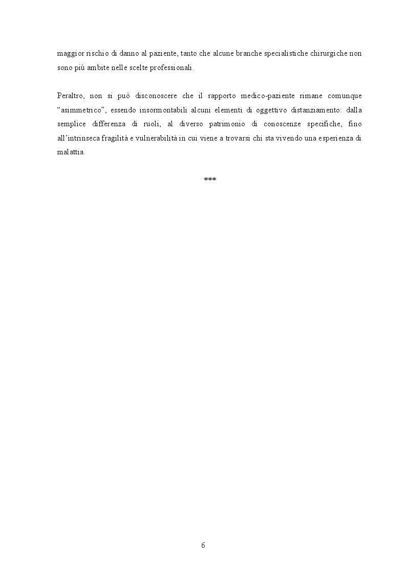 Anteprima della tesi: La responsabilità professionale del chirurgo: aspetti giuridici e medico-legali, Pagina 5