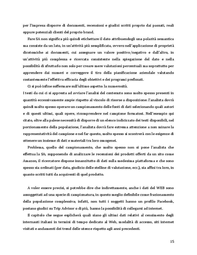 Estratto dalla tesi: Sentiment Analysis - Fondamenta e Sviluppi
