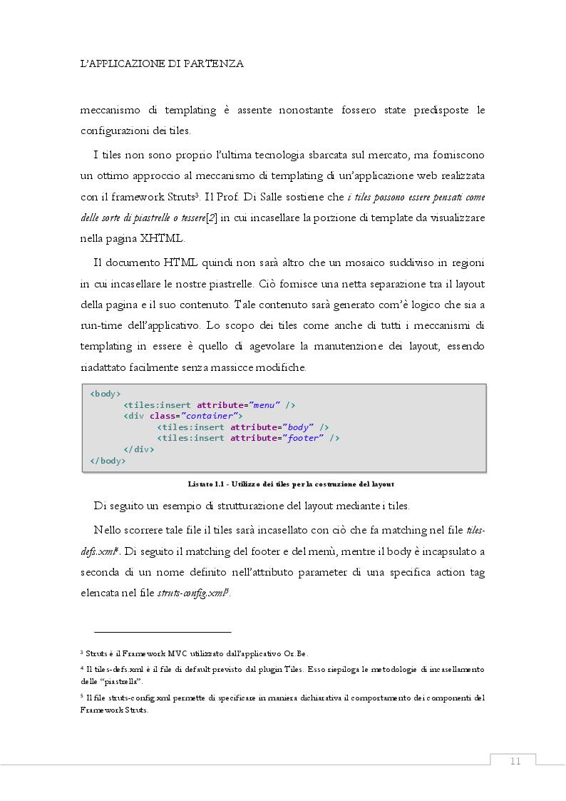 Estratto dalla tesi: Aggiornamento della piattaforma tecnologica di un'applicazione J2EE