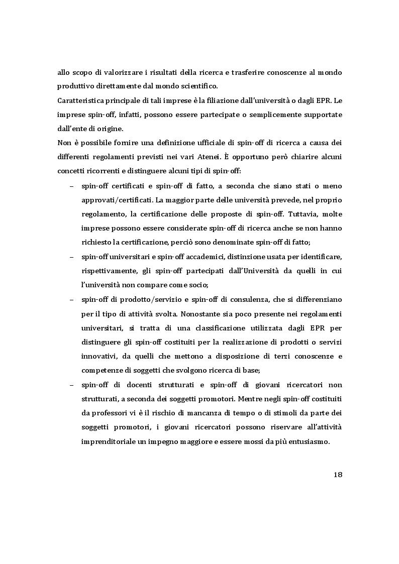 Estratto dalla tesi: Trasferimento tecnologico e valorizzazione della ricerca: il ruolo del commitment imprenditoriale nella creazione di spin-off accademici