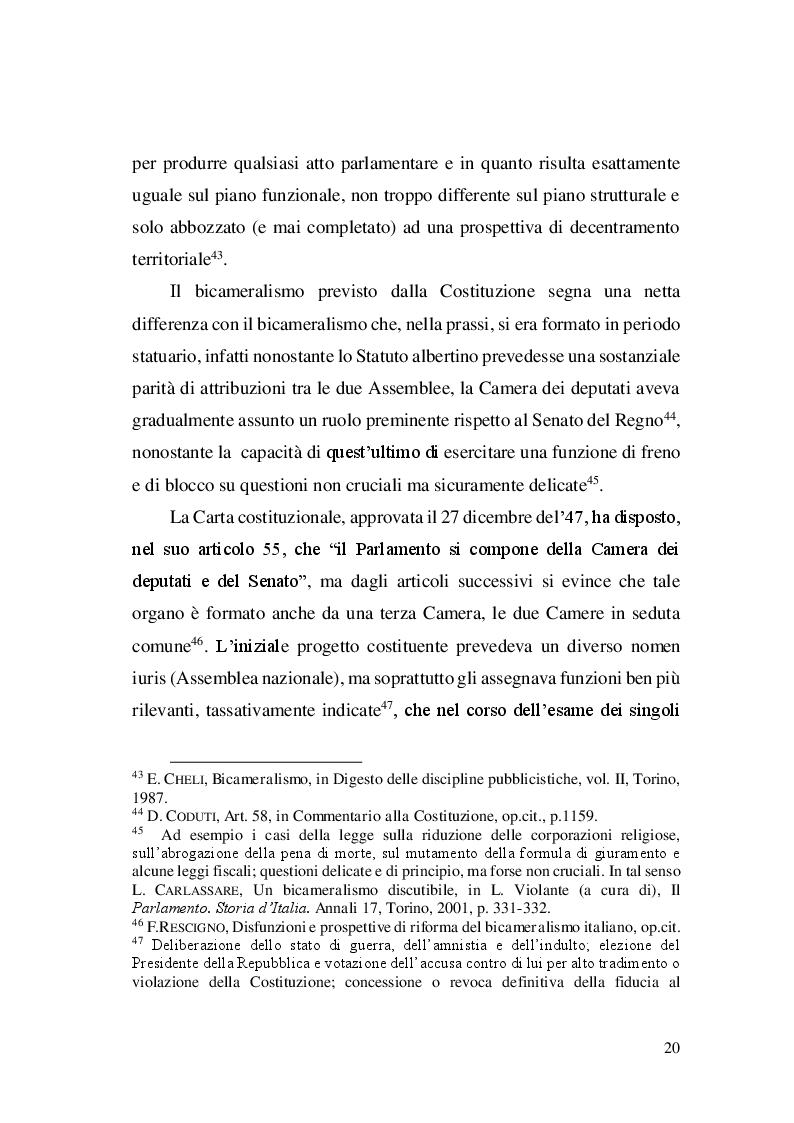 Estratto dalla tesi: Il tema della riforma del Senato dal 1948 ad oggi