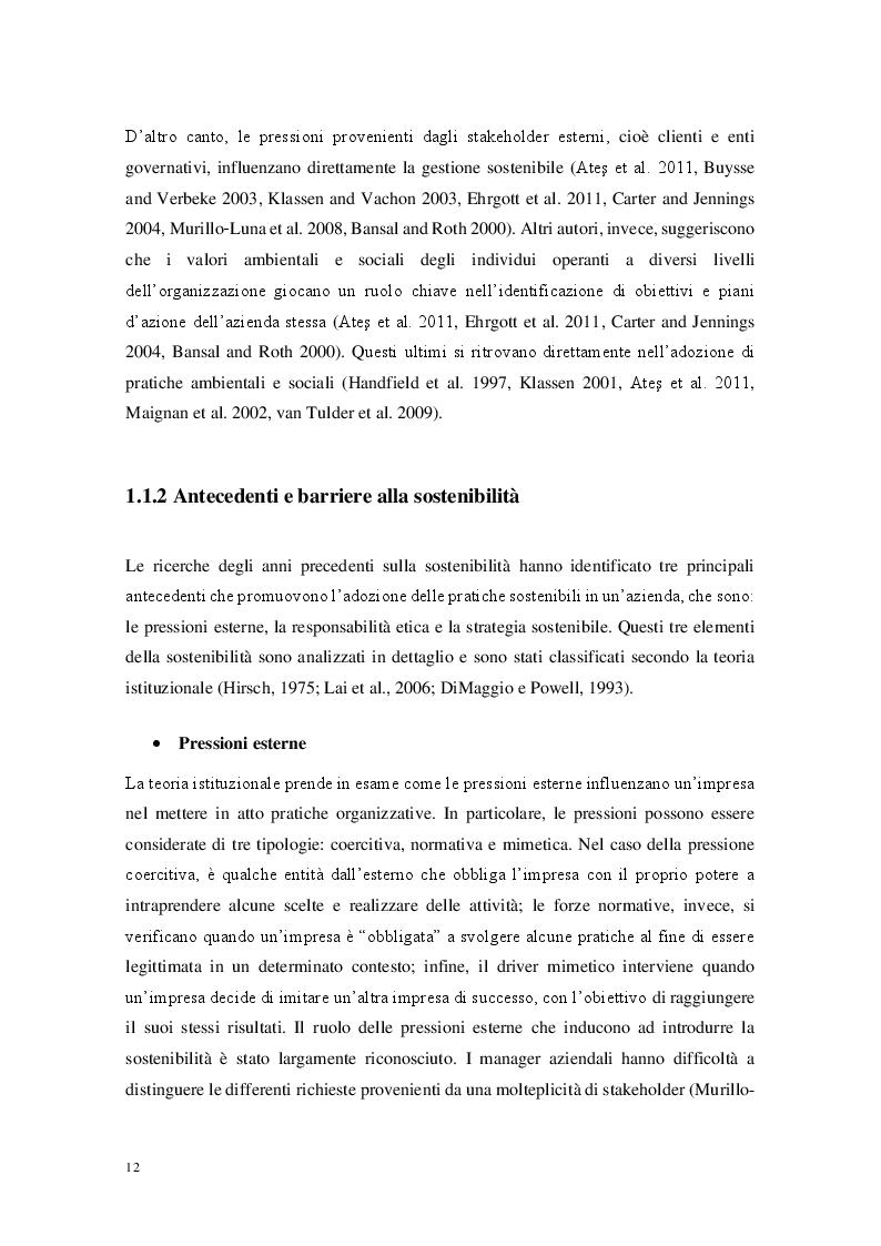 Estratto dalla tesi: Sostenibilità e il mondo delle NGO: Sviluppo e validazione di un modello di categorizzazione