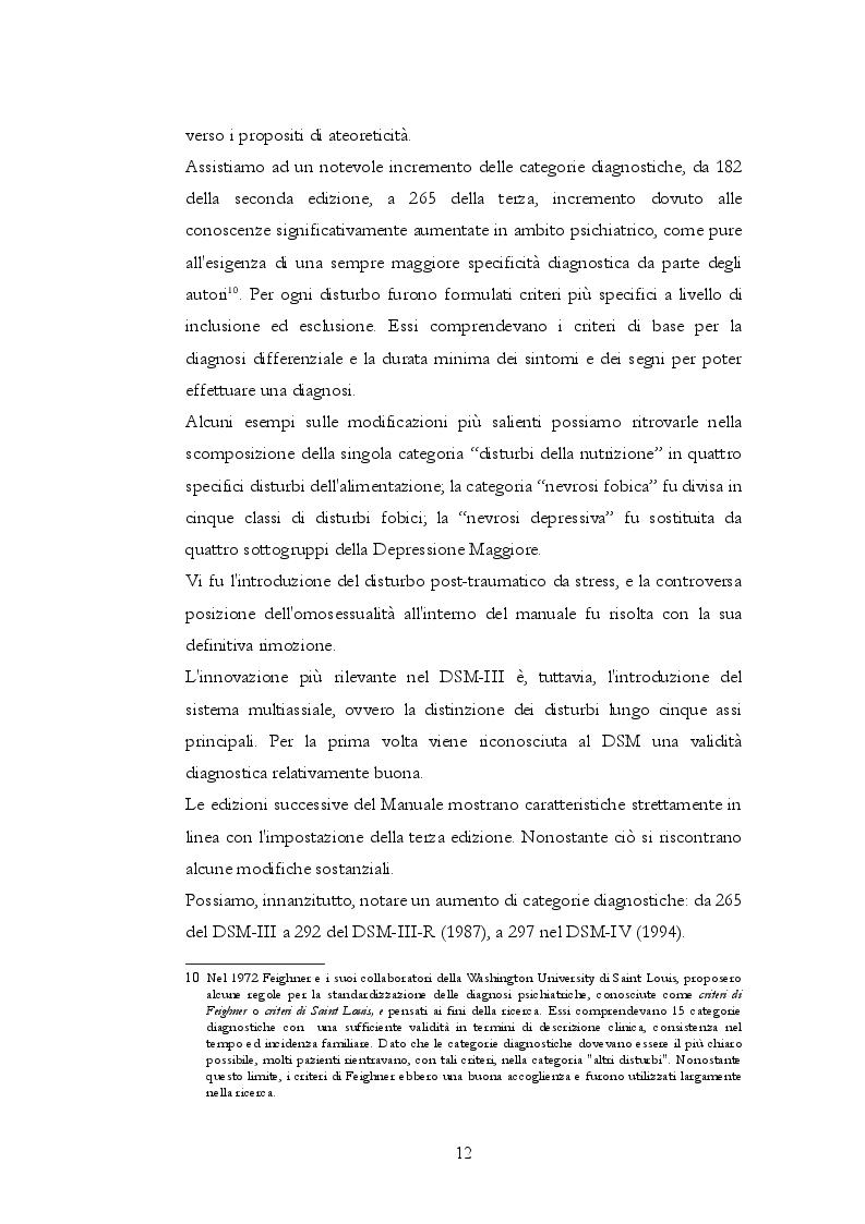 Estratto dalla tesi: Storia, gestazione e nascita del DSM 5 a trent'anni dal DSM-IV