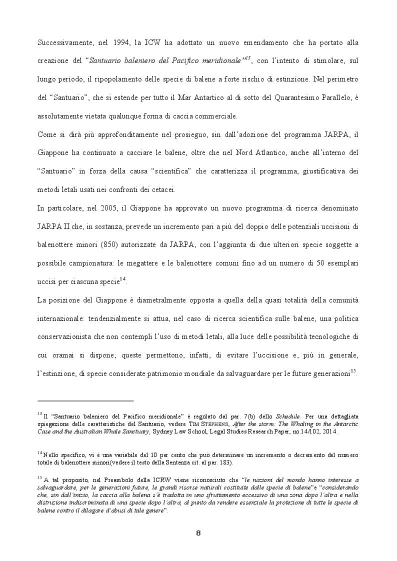 """Estratto dalla tesi: Il caso della """"Caccia alla balena nell'Antartico"""" alla luce della giurisprudenza internazionale"""