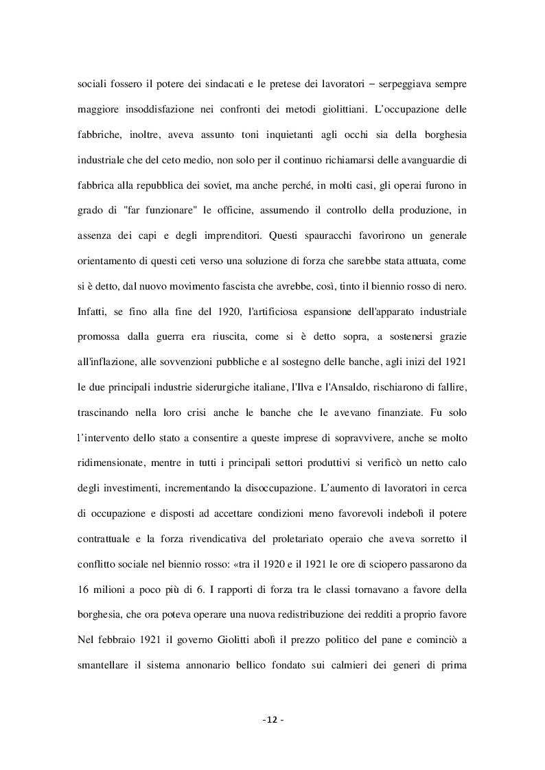 Estratto dalla tesi: Il Piano Marshall e il miracolo economico in Italia nel Secondo dopoguerra