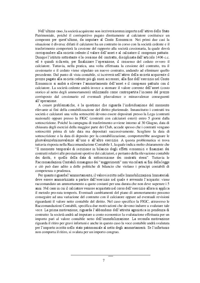 Estratto dalla tesi: I Bilanci delle società calcistiche:gli effetti del fair play finanziario
