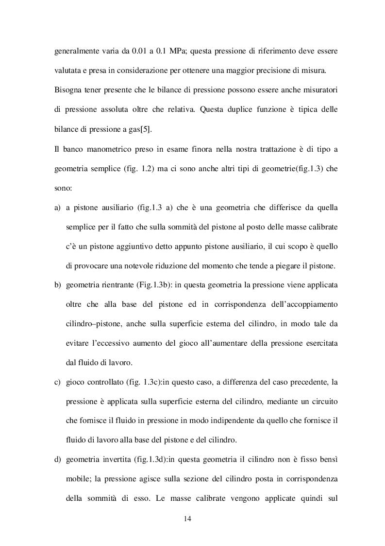Estratto dalla tesi: Caratterizzazione di bilance di pressione mediante l'impiego di metodi numerici e analitici