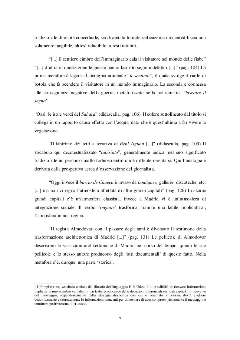 Estratto dalla tesi: Similitudini e metafore in alcuni mensili di viaggio e culturali italiani e francesi