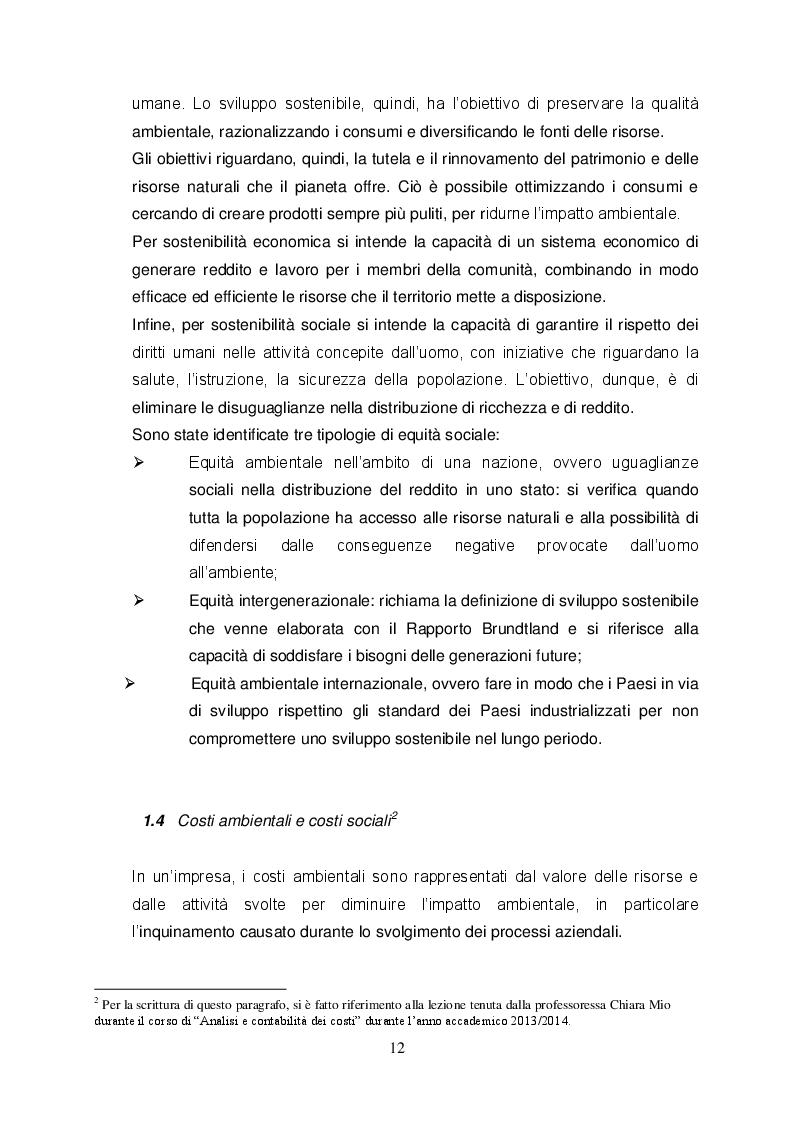 Estratto dalla tesi: Sostenibilità: case study Ferrero S.p.a.