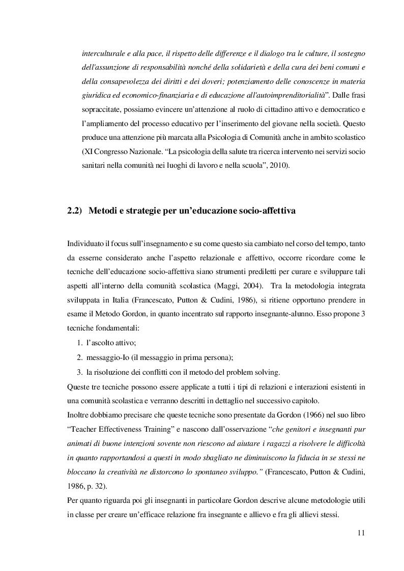 Estratto dalla tesi: Matematica e Psicologia di Comunità. Informazione o formazione?