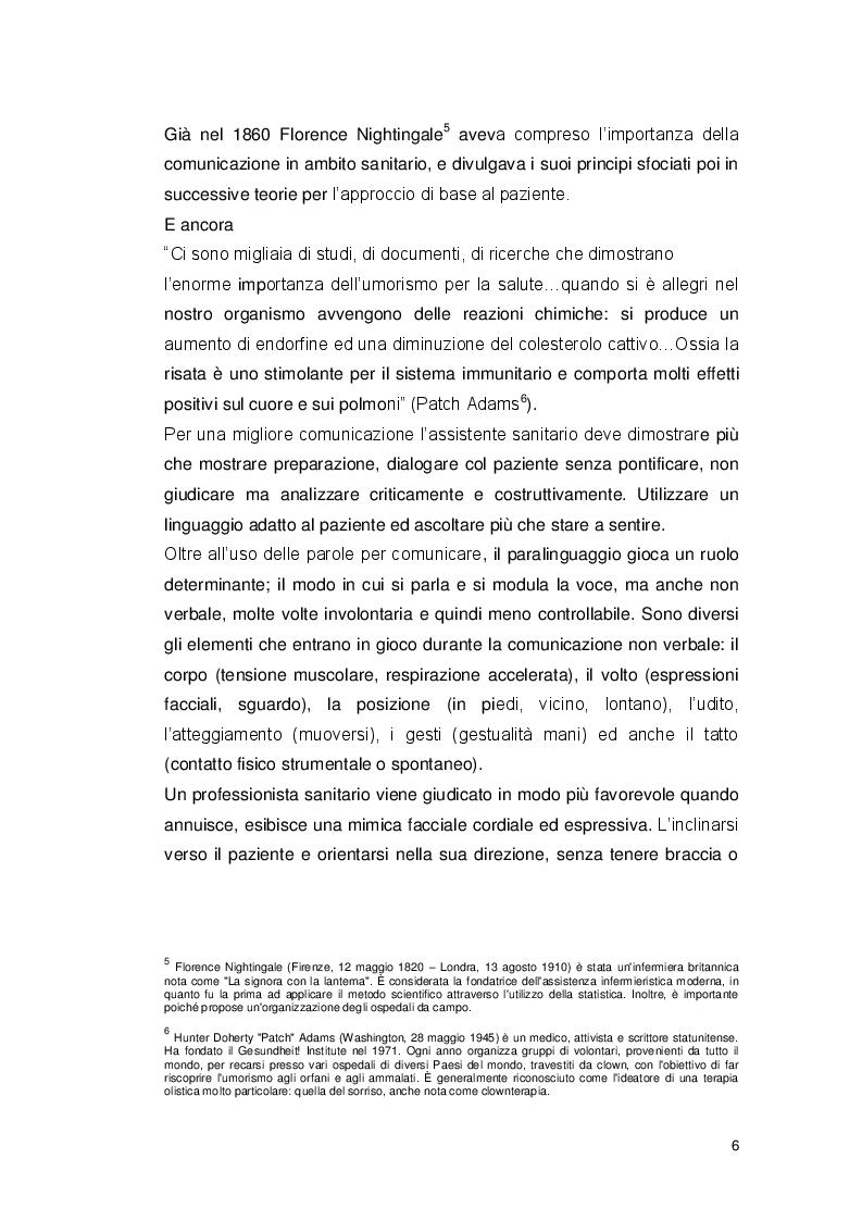 Estratto dalla tesi: L'assistente sanitario e la comunicazione nei programmi di prevenzione secondaria