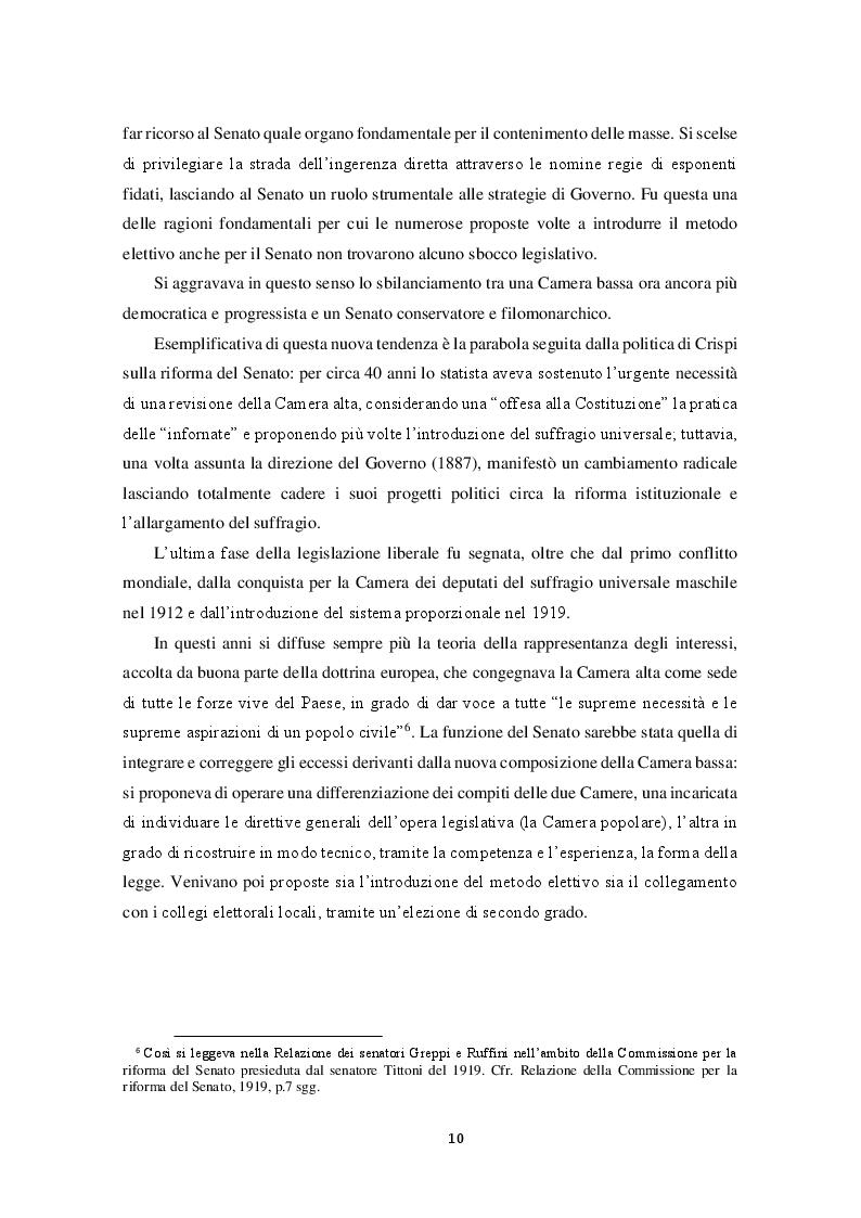 Estratto dalla tesi: Le seconde Camere in Italia e in Belgio