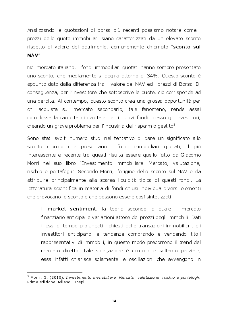 Estratto dalla tesi: Real-estate: anticiclicità solo apparente o connessioni con la crisi economica globale? Un'analisi empirica