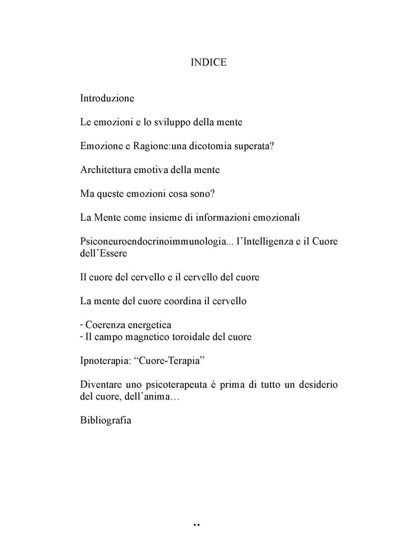 Indice della tesi: L'intelligenza del cuore, Pagina 1