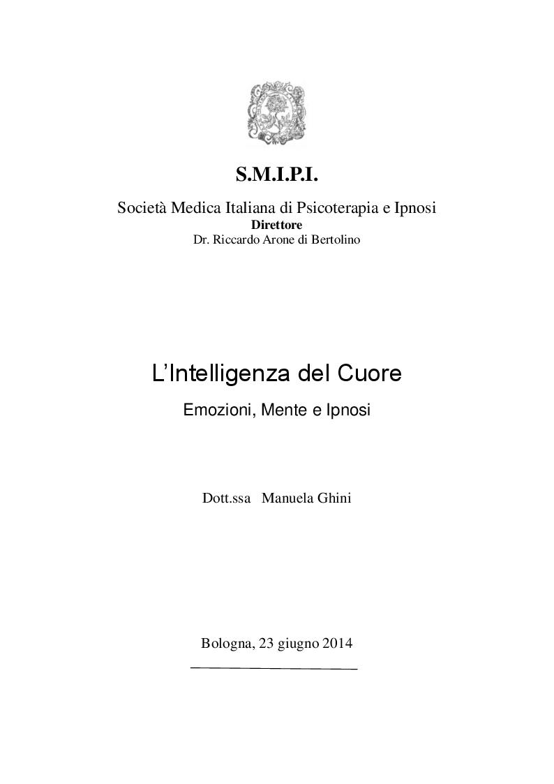 Anteprima della tesi: L'intelligenza del cuore, Pagina 1
