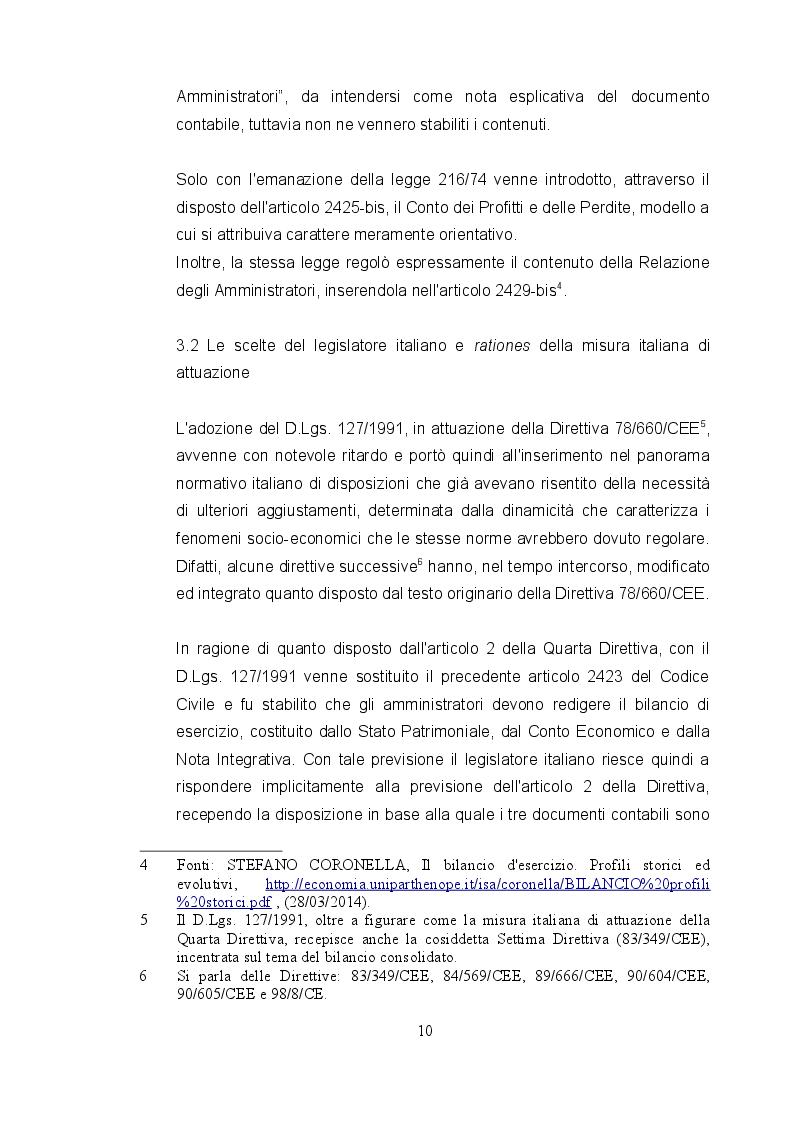 Estratto dalla tesi: Recepimento italiano della Direttiva 78/660/CE e prospettive di evoluzione in base al disposto della Direttiva 2013/34/UE in materia di redazione del bilancio d'esercizio