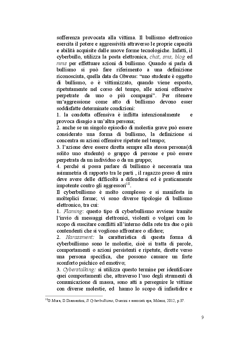 Estratto dalla tesi: Illeciti informatici e tutela della persona con particolare riferimento al Sexting