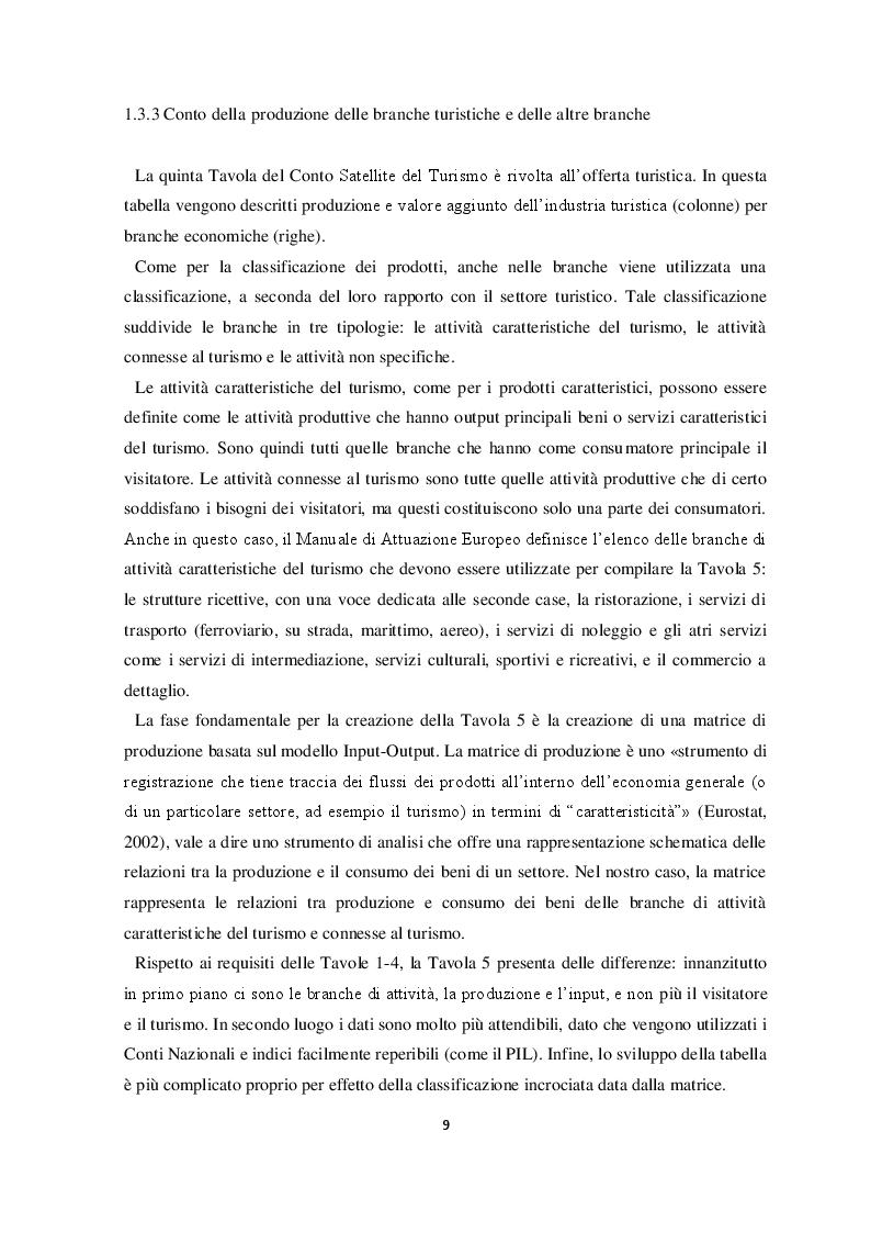 Estratto dalla tesi: Il conto satellite del turismo in Italia: metodologie e prospettive