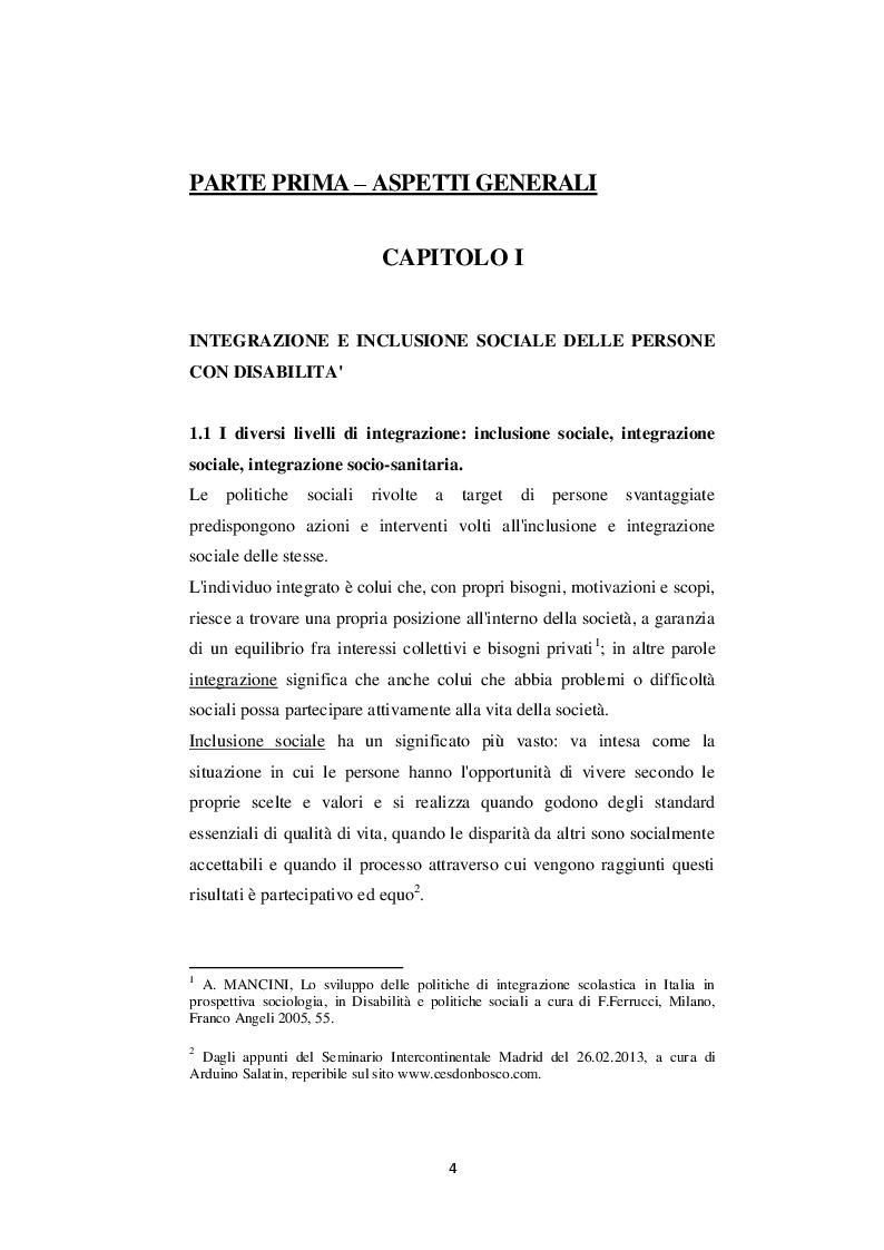 Anteprima della tesi: Inclusione sociale e integrazione socio-sanitaria della disabilità: un confronto tra casi piemontesi, Pagina 5