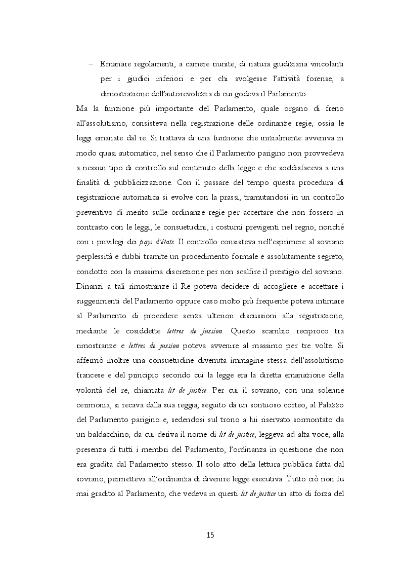 Estratto dalla tesi: La nascita del regime parlamentare in Francia