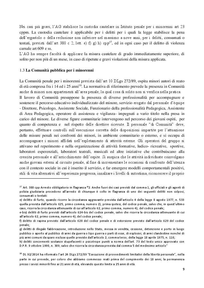 Estratto dalla tesi: Osservazione scientifica della personalità del minore nel sistema penale minorile