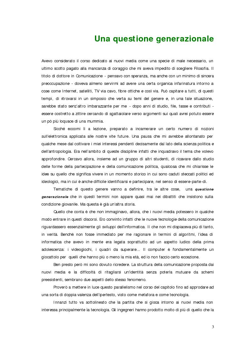Anteprima della tesi: Sistemi deficienti? Interazione tra utente, ambiente e tecnologie ipermediali., Pagina 1