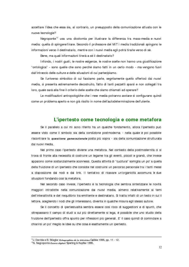 Anteprima della tesi: Sistemi deficienti? Interazione tra utente, ambiente e tecnologie ipermediali., Pagina 10