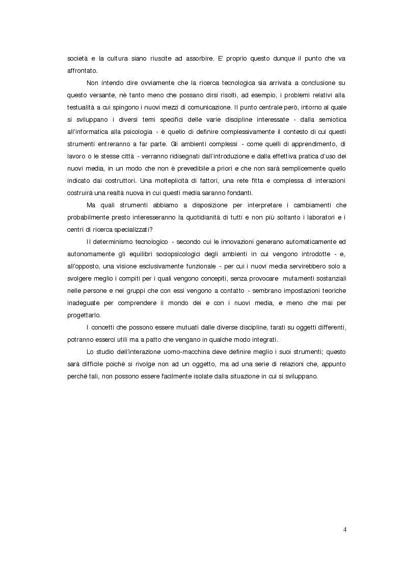 Anteprima della tesi: Sistemi deficienti? Interazione tra utente, ambiente e tecnologie ipermediali., Pagina 2