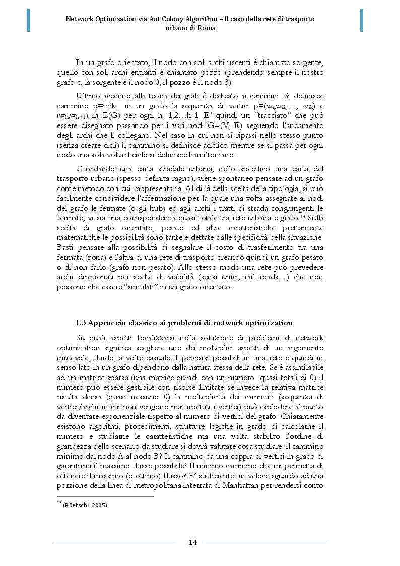 Estratto dalla tesi: Network optimization via Ant Colony Algorithm: il caso della rete di trasporto urbano di Roma