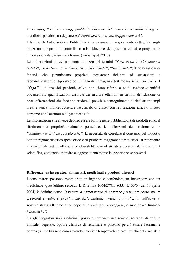 Estratto dalla tesi: Gli integratori alimentari: legislazione e classificazione