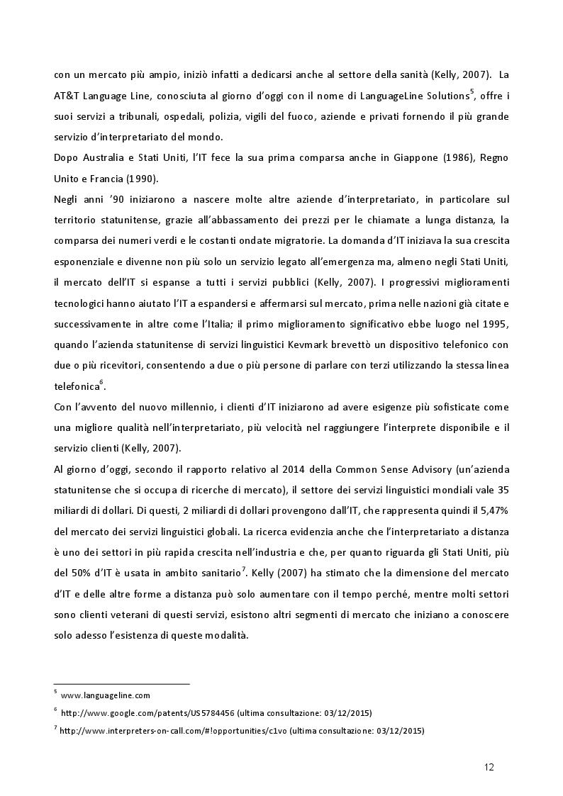 Estratto dalla tesi: Studio empirico sull'interpretazione telefonica: formazione e strategie