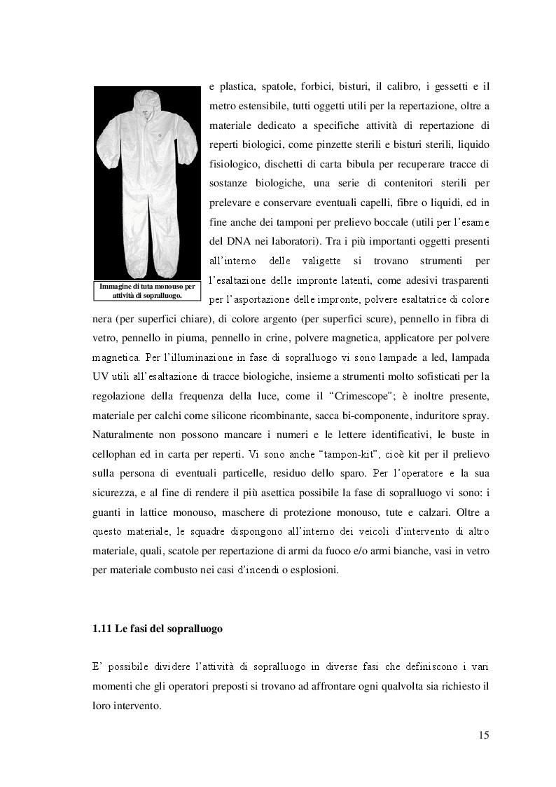 Estratto dalla tesi: Il sopralluogo nei mass-disaster e l'attività DVI
