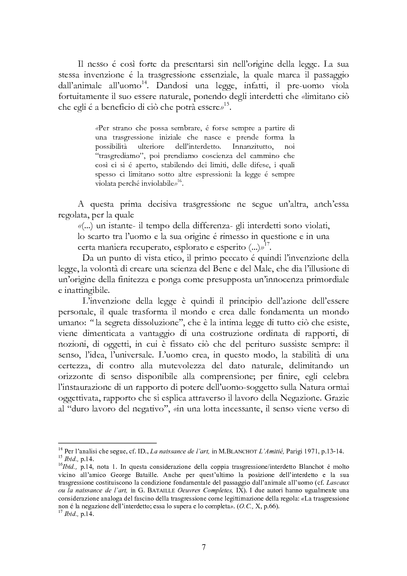 Anteprima della tesi: La legge, la letteratura e la morte. Una lettura di Maurice Blanchot, Pagina 7