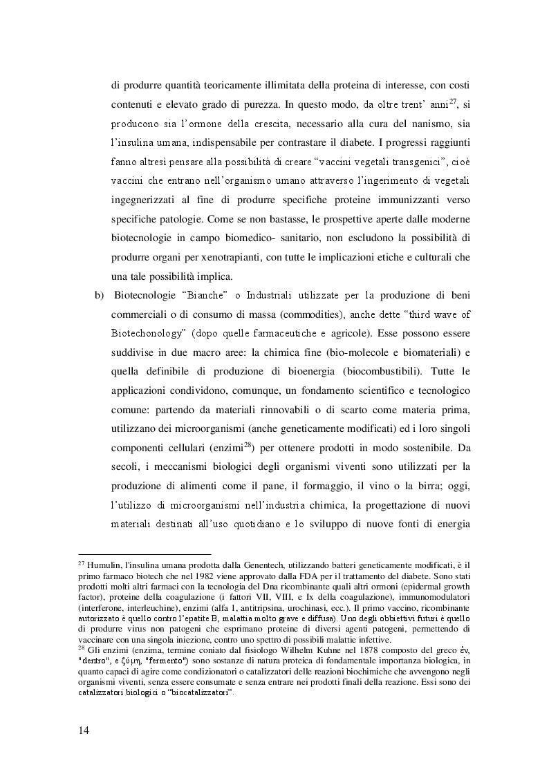 Estratto dalla tesi: Gli organismi geneticamente modificati nell'Unione Europea: disciplina e orientamenti giurisprudenziali