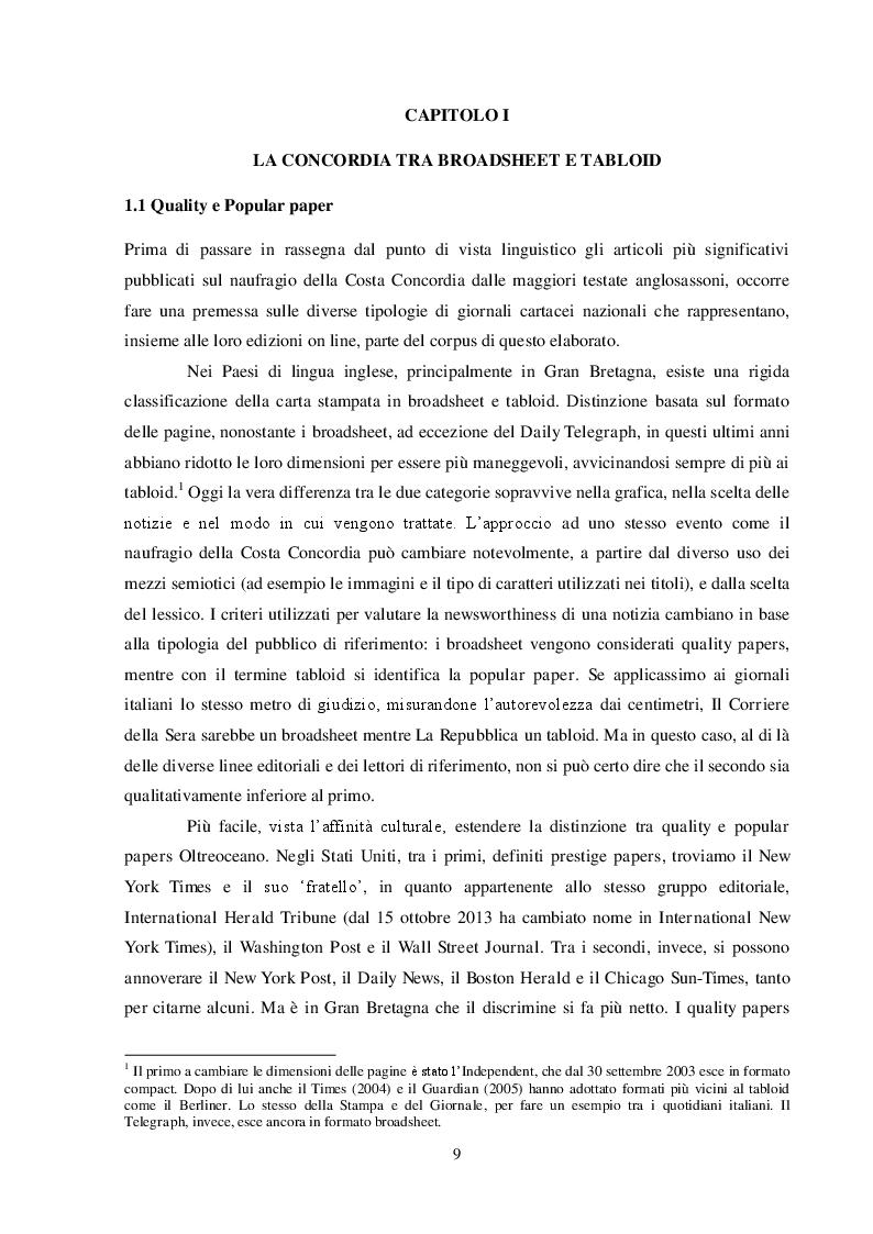 Estratto dalla tesi: Costa Concordia: il linguaggio di un naufragio