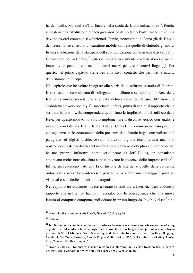 Anteprima della tesi: Le nuove forme di scrittura digitale: il crowdsourcing su Internet. I content market di Popolis Create e O2O, Pagina 7