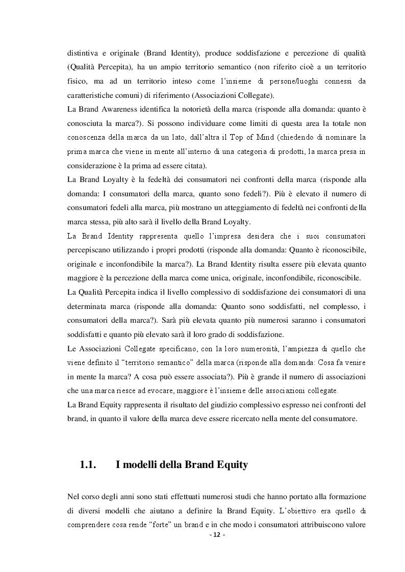 Estratto dalla tesi: Nuove Forme di Comunicazione del Brand