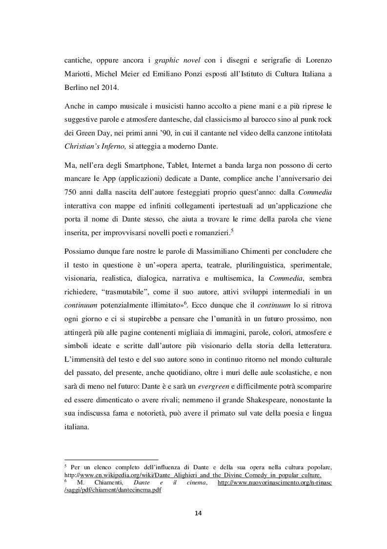 Estratto dalla tesi: Note sulla cinematografia dantesca. Dal 2000 ad oggi
