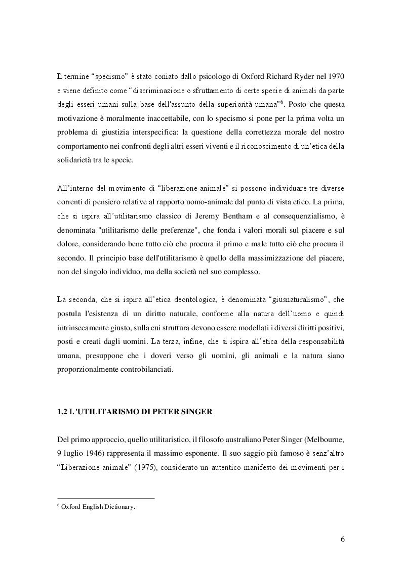 Estratto dalla tesi: Luci e ombre della sperimentazione animale: analisi di un dibattito etico, psicologico e scientifico