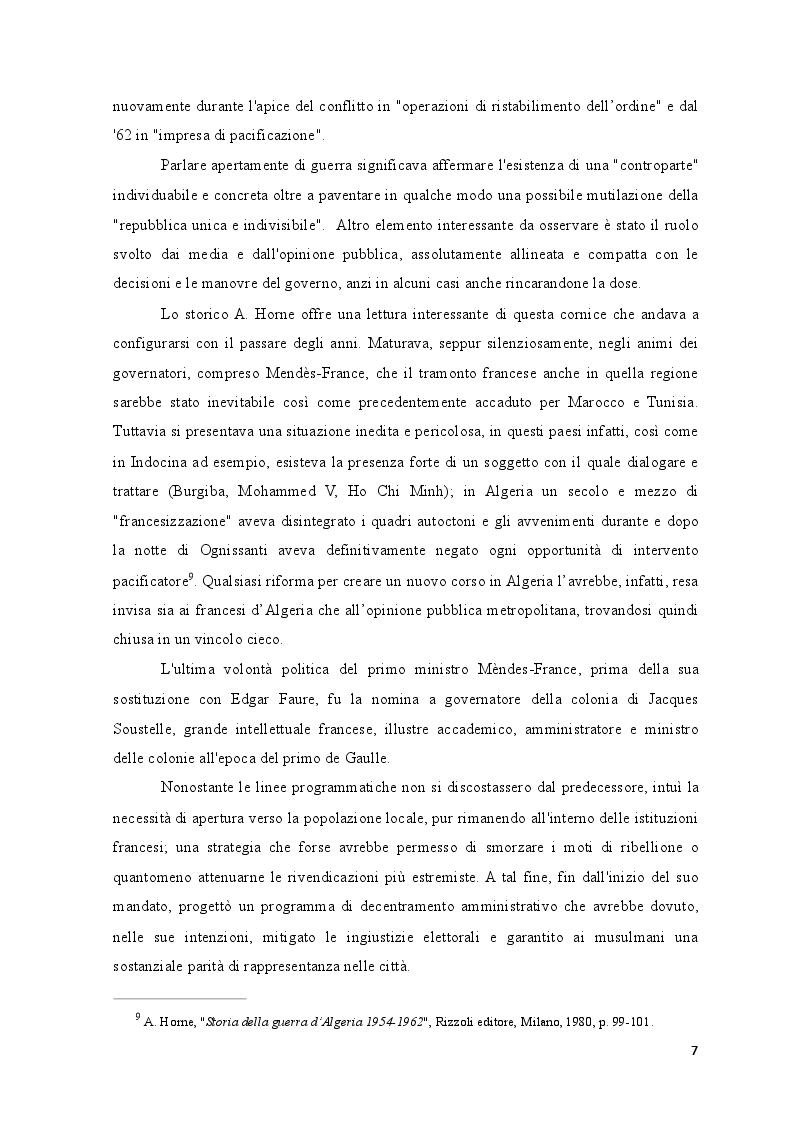 Estratto dalla tesi: La Rivoluzione d'Algeria. Una lunga genesi che attraversa il percorso storico, politico e culturale del popolo algerino.