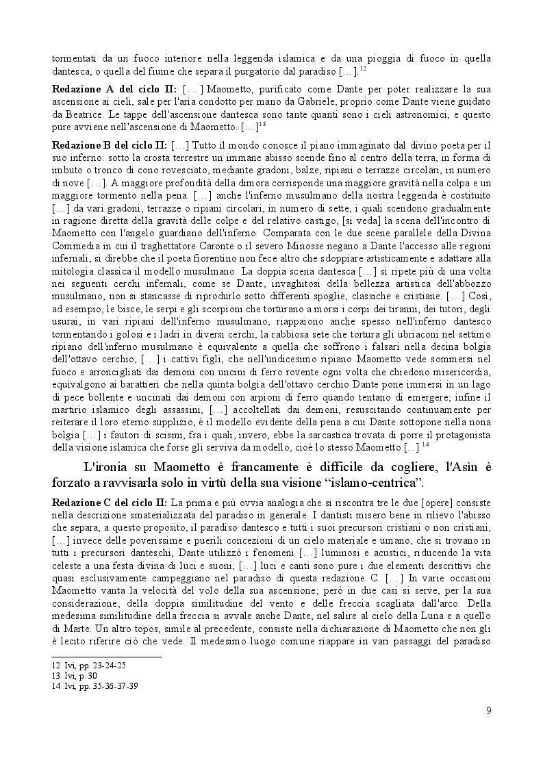 Estratto dalla tesi: Presenze e immagini dell'Islam nella Commedia di Dante